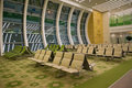 Interior of the waiting room of a new international terminal `Lachin` of airport of Ashgabat Royalty Free Stock Photo