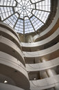 Interior walls ceiling of guggenheim museum in new york spectacular the usa Royalty Free Stock Photography