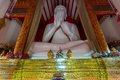 Interior of wat mangkol thawararam wat khrua khrae horizontal low angle view Stock Images