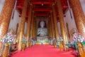 Interior of wat mangkol thawararam wat khrua khrae horizontal low angle view Royalty Free Stock Photography