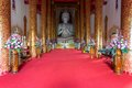 Interior of wat mangkol thawararam wat khrua khrae horizontal wide angle view Stock Images