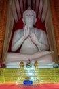 Interior of wat mangkol thawararam wat khrua khrae vertical Royalty Free Stock Photo