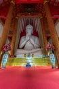 Interior of wat mangkol thawararam wat khrua khrae vertical Royalty Free Stock Photos