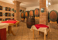 Interior of wine cellar of great Slovak producer. Stock Photo