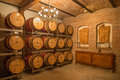 Interior of wine cellar of great Slovak producer. Royalty Free Stock Image