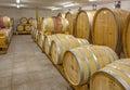 Interior of wine cellar of great Slovak producer. Casks Royalty Free Stock Photos