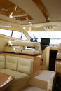 Interior of the yacht Stock Photos