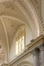 Interiors of the cathedral in erice a detail gothic style near trapani sicily portrait cut Stock Images