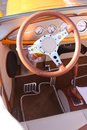 Interiors of classic car elegant Stock Photos