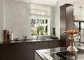 Interiors, modern kitchen Royalty Free Stock Photo