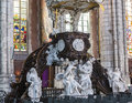 Interiors of saint bavon cathedral ghent belgium a wiev in july paintings and details july in Royalty Free Stock Photo