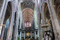 Interiors of saint bavon cathedral ghent belgium a wiev in july paintings and details july in Stock Photos