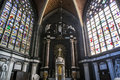 Interiors of saint bavon cathedral ghent belgium a wiev in july paintings and details july in Royalty Free Stock Image