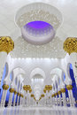 Interiors of Sheikh Zayed Mosque, Abu Dhabi Royalty Free Stock Photo