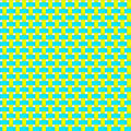 Interlacing paper fabric tapes with drop shadows and bending elements yellow blue color seamless vector texture seamless Royalty Free Stock Images