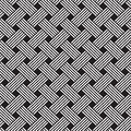 Interlacing pattern geometric seamless ornament background print design Royalty Free Stock Image
