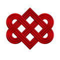 Interlocking Heart Knot Symbol