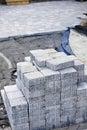 Interlocking stone driveway Royalty Free Stock Photo