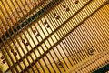 Internal arrangement of pianos, Theme of musical instruments. Background. Royalty Free Stock Photo