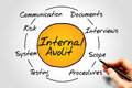 Internal audit process circle business concept Royalty Free Stock Image