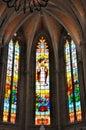 Internal construction of a Catholic church Royalty Free Stock Photo