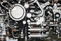 the internal structure of the aircraft engine, army aviation, military  and aerospace industry Royalty Free Stock Photo
