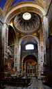 "Internal view of the basilica santi trifone e agos from left side apse and cupola ""santi agostino in campo marzio"" in rome Royalty Free Stock Images"