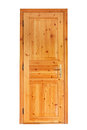 Internal wooden door panel isolated on white background Royalty Free Stock Image