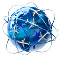 International air travel Royalty Free Stock Photos