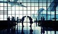 International Airport Business Travel Bow Down Concept Royalty Free Stock Photo