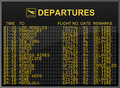 International Airport Departures Board Royalty Free Stock Photo