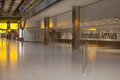 International arrivals airport night hall Royalty Free Stock Photos