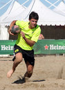 INTERNATIONAL BEACH RUGBY - CZECH REP. Stock Image