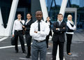 An international business team in formal clothes Royalty Free Stock Photo