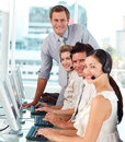 International business team working together Royalty Free Stock Photo