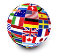International Business World Flags Royalty Free Stock Photo