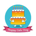 International Cake Day. July 20. Picture for the holiday of friendship and peace. The cake is next to the inscription.