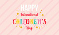 International childrens day colorful background