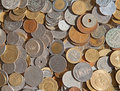 International coins collection of the various Stock Photo
