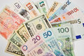 International currencies Royalty Free Stock Photo