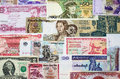 International currency banknotes different world countries Royalty Free Stock Image