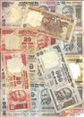 International currency -Indian rupee notes Stock Image