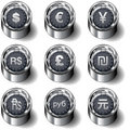International currency vector button set Stock Photos
