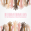 International Day for the Elimination of Racial Discrimination. Royalty Free Stock Photo