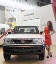 International exhibition moscow september cars chinese company dongfeng at the comtrans on september in moscow Stock Image