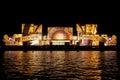 International Festival Circle of Light. Laser video mapping sh Royalty Free Stock Photo