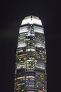 International financial centre night view of ifc in hong kong Royalty Free Stock Photography