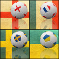 International flag on 3d football Stock Photo