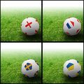 International flag on 3d football Royalty Free Stock Photo