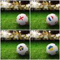 International flag on 3d football Royalty Free Stock Photography